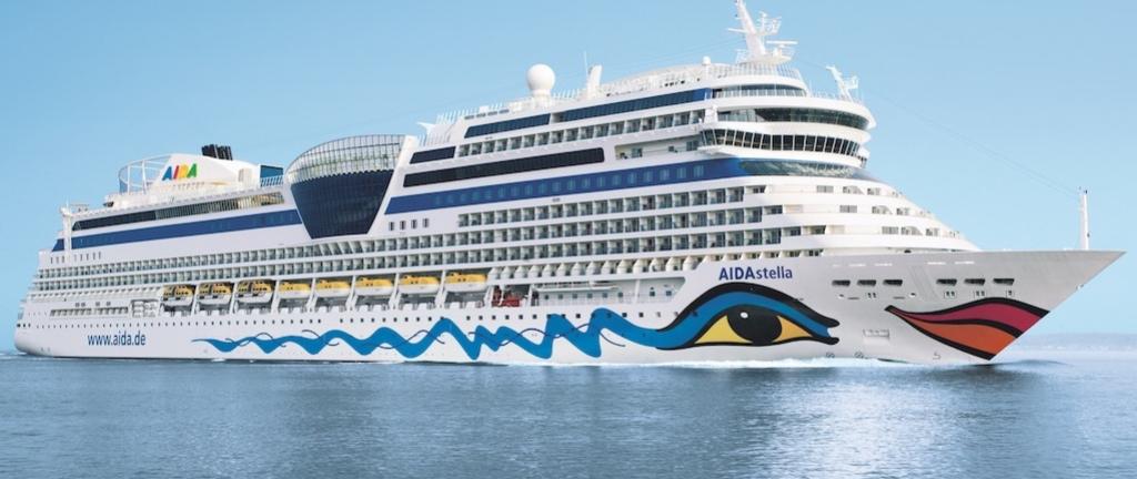 Die Aida-Stella kreuzt im Mittelmeer
